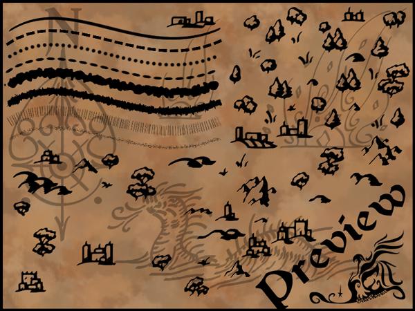 Calligraphic Cartography Brush