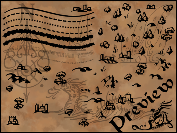 Calligraphic Cartography Brush by StarRaven