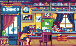 Coffee shop by noaqh