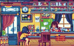 Coffee shop by noaqh