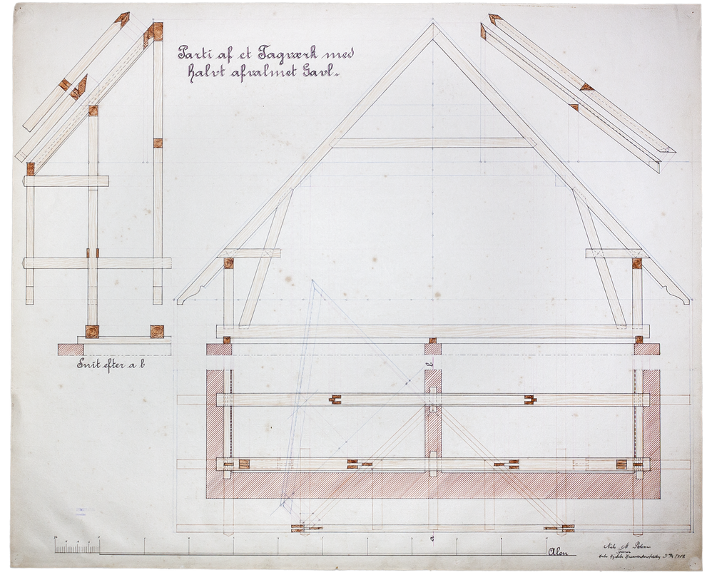 Vintage Roof Construction Blueprint By Regicollis On Deviantart