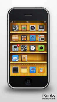 iBooks background for iPhone