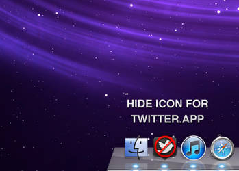 Hide icon for Twitter APP by bobjr