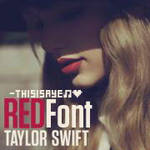 Taylor Swift RED font.