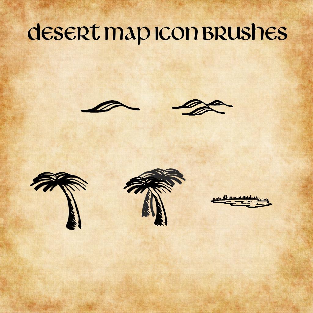 Desert Map GIMP Brushes gbr by ALifeInColours on DeviantArt