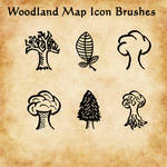 Woodland Map Icon Brushes for GIMP (gbr)