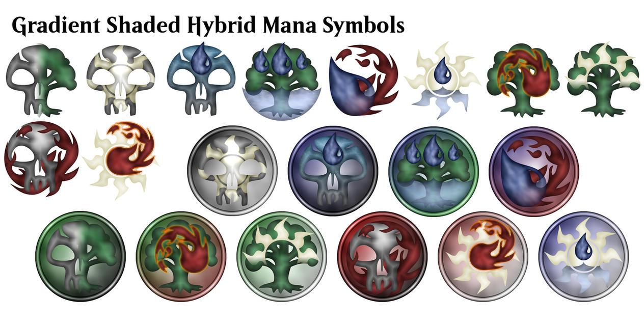 Mtg Gradient Shaded Hybrid Mana Symbols By Alifeincolours On Deviantart