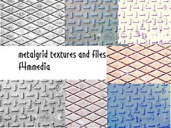 metalgrid textures 1 by f4mmedia