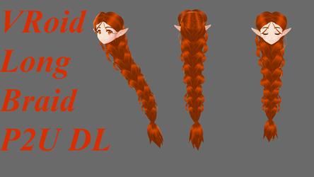 VRoid Long Braid P2U DL