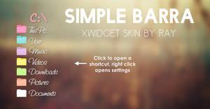 Simple Barra XWidget Skin by Ray