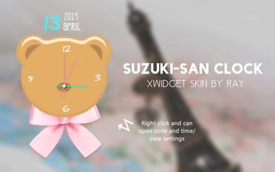 Suzuki san Clock XWidget Skin by Ray by Raiiy