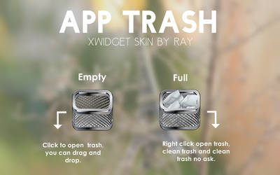 App Trash Xwidget Skin by Ray by Raiiy