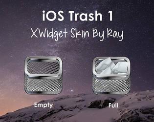 iOS Trash 1 Xwidget Skin by Ray by Raiiy
