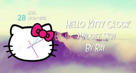 Hello Kitty Clock XWidget Skin by Ray by Raiiy