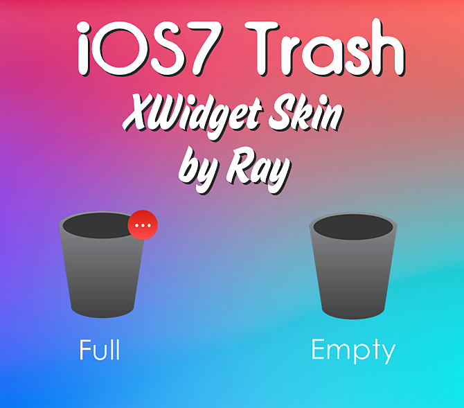iOS7 App Trash XWidget Skin by Ray by Raiiy