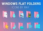 Windows 10 Pink Falt Folders by Ray