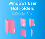 Windows User  Pink Flat Floders by Ray