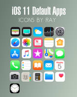 iOS 11 Default App Icons by Ray
