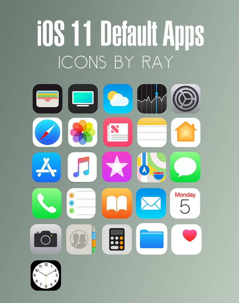 iOS 11 Default App Icons by Ray by Raiiy on DeviantArt