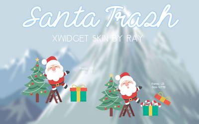 Santa Trash XWidget Skin by Ray by Raiiy
