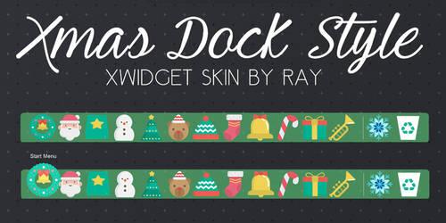 Xmas Dock Style Xwidget Skin by Ray by Raiiy