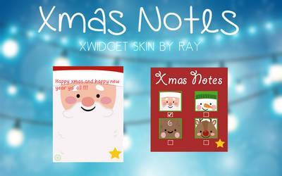 Xmas Notes XWidget Skin by Ray by Raiiy