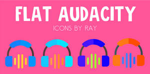 Flat Audacity Icons by Ray