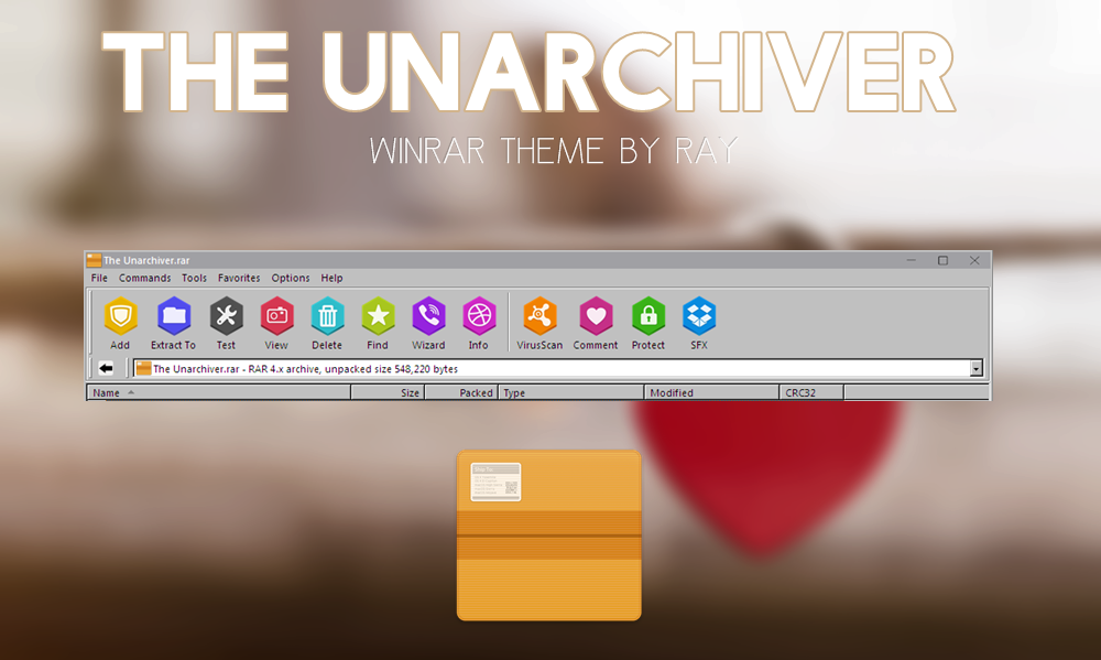 The Unarchiver WinRAR Theme by Ray by Raiiy on DeviantArt