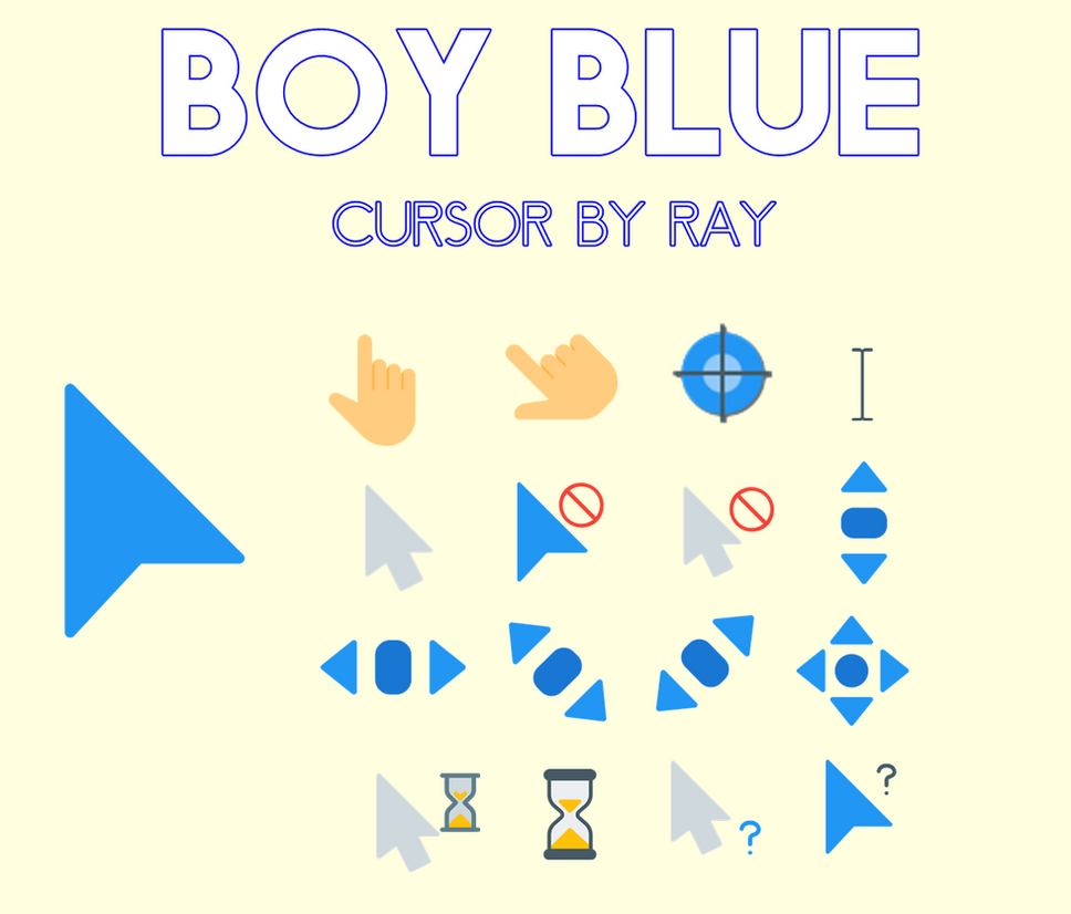 Pure White Cursors by Ray