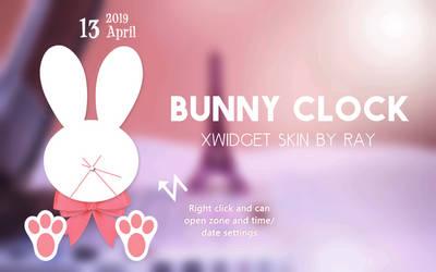 Bunny Clock XWidget Skin by Ray by Raiiy