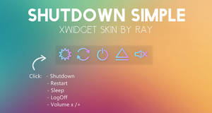 Shutdown Simple XWidget Skin by Ray