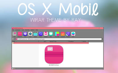 OS X Mobile WinRAR Theme by Ray