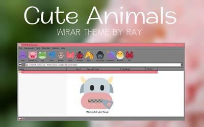 Cute Animals WInRAR Theme by Ray
