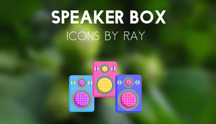 Speaker Box Icons by Ray