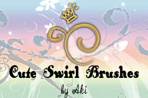 cute swirl brushes by Akino-K