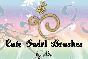 cute swirl brushes by Akino-K