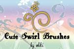 cute swirl brushes