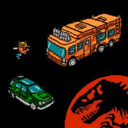NES Jurassic Park Reimagined - JP2 Vehicles