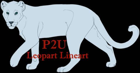 P2U Leopard Lineart by springf0x