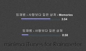 minima iTunes for Rainmeter