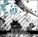 Dear Diary Brushes by in-vogue