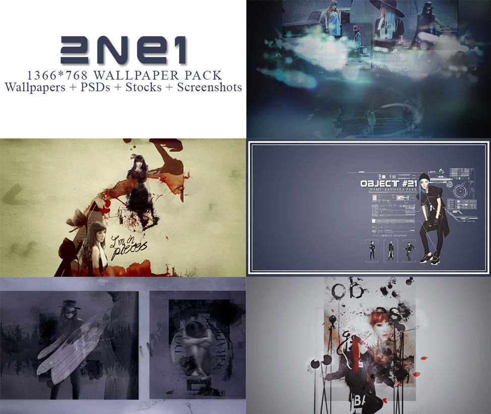 [PSD] 2NE1 Wallpaper Pack by SammyYun