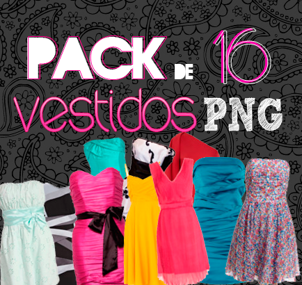 pack 16 vestidos PNG by holixd