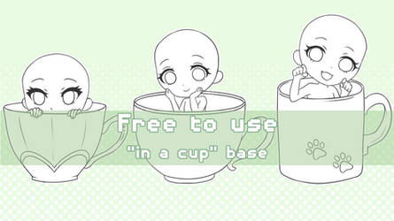 [F2U] - In a Cup Base - by Miyon-Adoptables