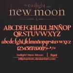 The twilight saga new moon   Font