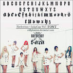 T-ara day by day   Font