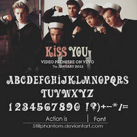 One direction kiss you   Font
