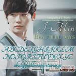 J-min Beautiful days   Font