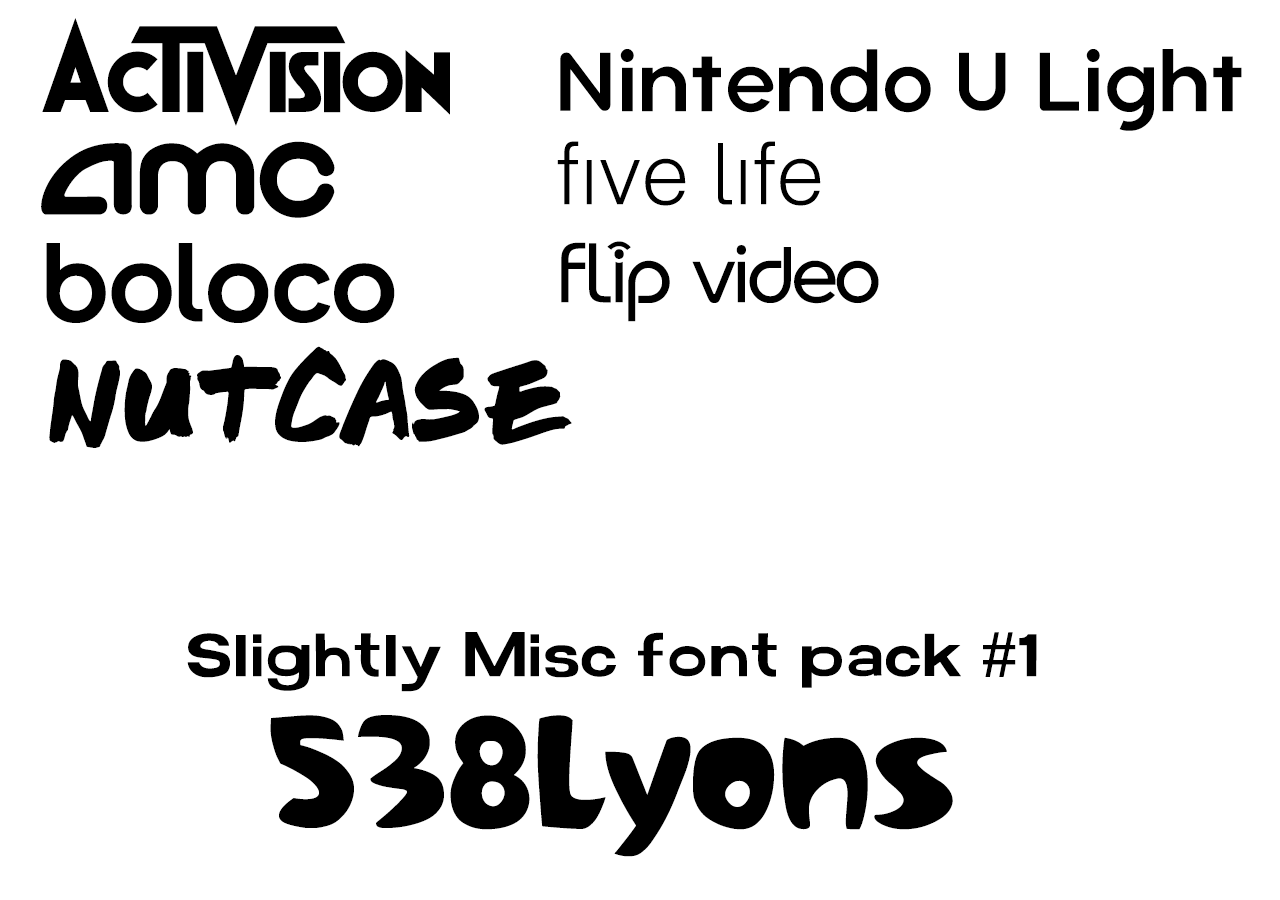 Download Slightly Misc Font Pack 1 - 538Lyons by DLEDeviant on ...