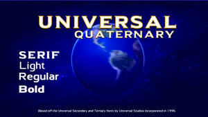 Universal Quaternary font pack
